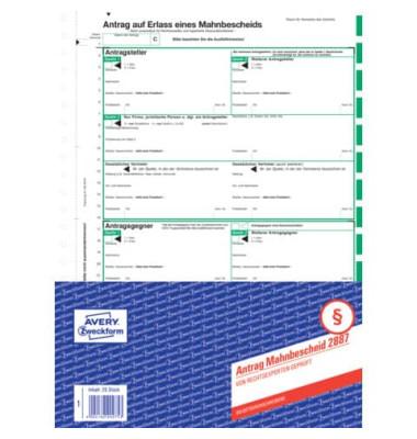 Mahnbescheid für maschinelles Mahnverfahren A4 4 Blatt