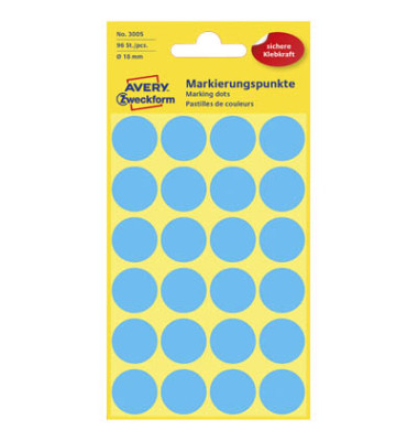 Markierungspunkte 3005 blau Ø 18mm 96 Stück