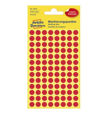 Markierungspunkte 3010 rot Ø 8mm 416 Stück