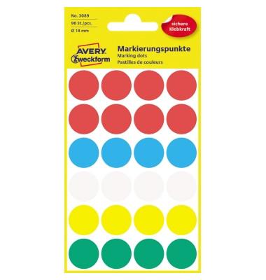 Markierungspunkte 3089 farbig sortiert Ø 18mm 96 Stück