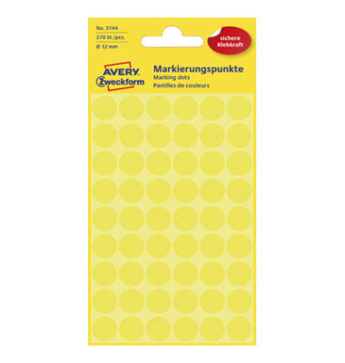 Markierungspunkte 3144 gelb Ø 12mm 270 Stück
