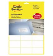3348 Adress Etiketten 67 x 38 mm weiß 420 Stück