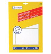 3351 Adress Etiketten 148 x 103 mm weiß 80 Stück