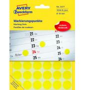 Markierungspunkte rund Ø 18mm gelb 3377
