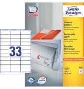 Etiketten 3421 70 x 25,4 mm weiß 3300 Stück