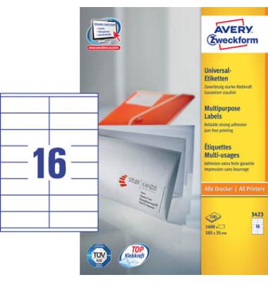 Etiketten 3423 105 x 35 mm weiß 1600 Stück STAMPIT QuickPeel