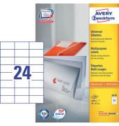 Etiketten 3474-100 70 x 37 mm weiß 2400 Stück