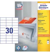 Etiketten 3489 70 x 29,7 mm weiß 3000 Stück STAMPIT