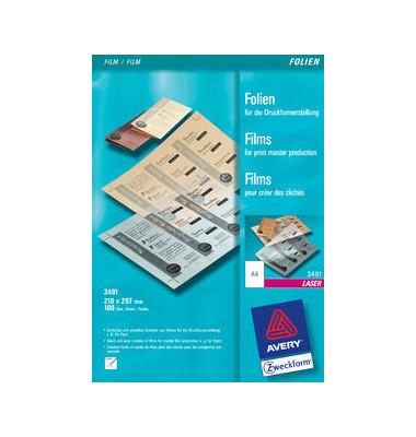 Kopier-/Laserdruckerfolie A4 matt/transparent 0,10mm 100 Blatt