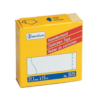Korrekturband 5-zlg. weiß 21,1mm x 15m