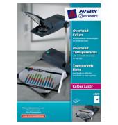 Farblaserkopierfolie A4 klar 0,10mm mit Sensorstreifen 50 Blatt