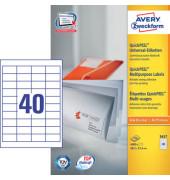 Etiketten 3657 48,5 x 25,4 mm weiß 4000 Stück