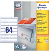 Etiketten 3667-200  48,5 x 16,9 mm weiß 12800 Stück QuickPeel