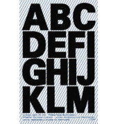Buchstabenetiketten A - Z schwarz 25mm selbstklebend 3784