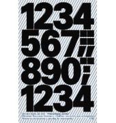 3785 Buchstabenetiketten 25mm x 100pt 1-9 schwarz wetterfest 28 Stück
