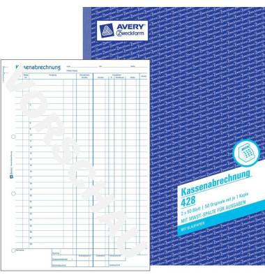 Kassenabrechnung 428 A4 2x50 Blatt
