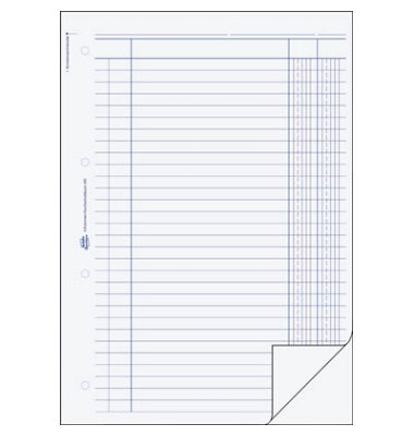 2-Kolonnen-Durchschreibbuch 450 A4 2x50 Blatt 2 Spalten