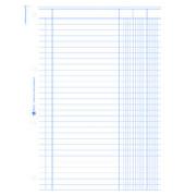 3-Kolonnen-Durchschreibbuch 451 A4 2x50 Blatt