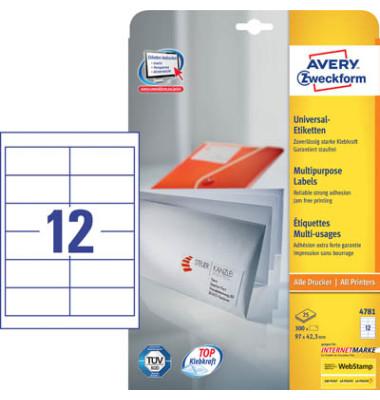 Etiketten 4781 97 x 42,3 mm weiß 300 Stück