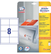 Etiketten 4782 97 x 67,7 mm weiß 200 Stück QuickPeel