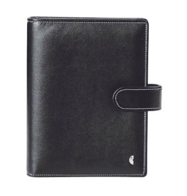 Ringbuch Standard Einsteiger Slim, A5, Kunstleder, schwarz
