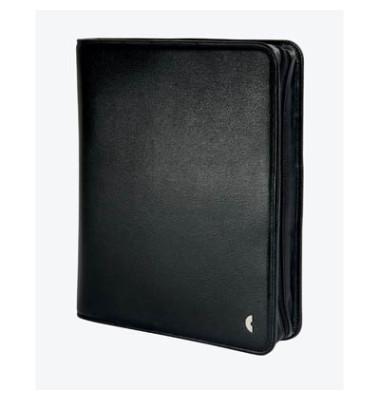 Ringbuch A5 Mobil Einsteiger Kunstleder schwarz mit Reißverschluss