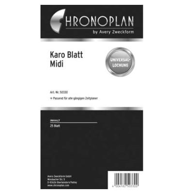 Papier kariert 80g weiß Midi 25 Blatt