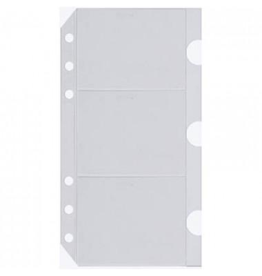 Visitenkartenhüllen Midi transparent 96x172mm 3 Stück