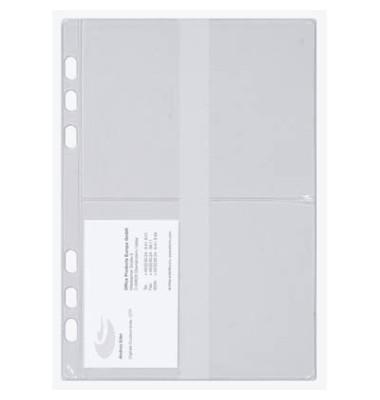 Visitenkartenhüllen A5 transparent 175x210mm 3 Stück