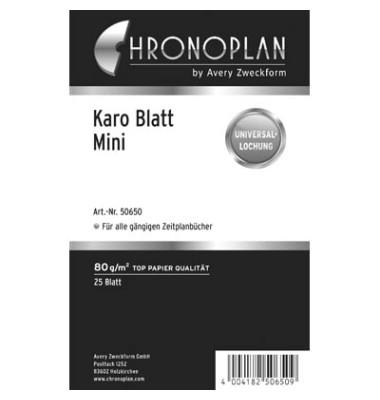 Ersatzeinlage Papier kariert 80g weiß Mini 25 Blatt