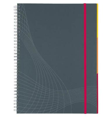 Notizbuch Notizio Spira.Kunst. grau A4 kar 90g 90 Bl