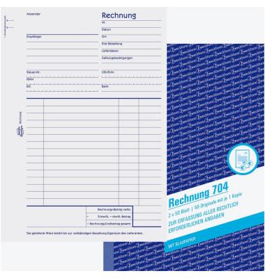 Rechnung A5 2x50 Blatt