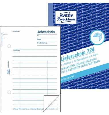 Lieferschein 724 A6 2x50 Blatt
