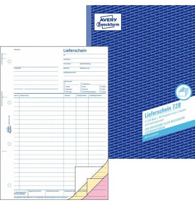 Lieferschein/Empfangsschein 728 A4 3x50 Blatt