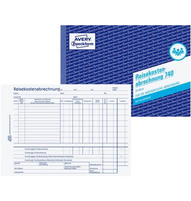 Reisekostenabrechnung 740 A5 Woche 50 Blatt