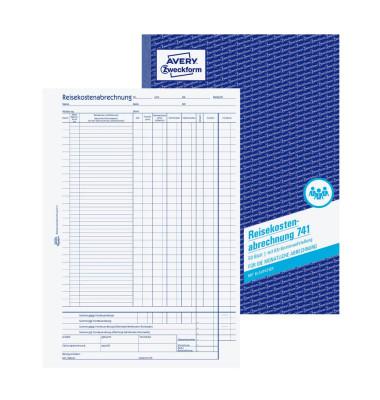Reisekostenabrechnung 741 A4 Monat 50 Blatt