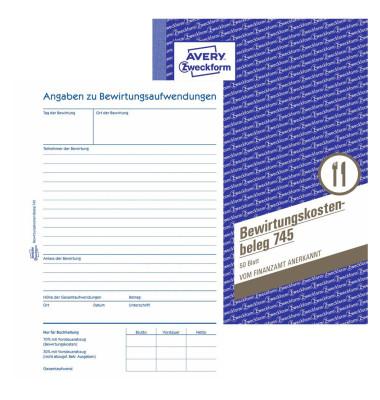 Bewirtungskosten A5 50 Blatt
