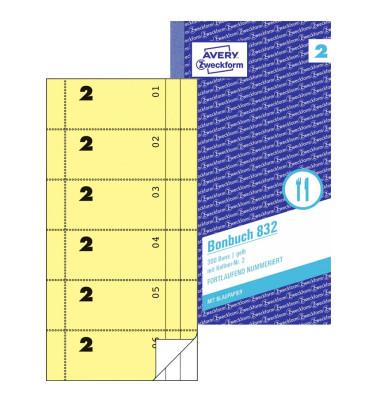 Bonbuch 832 300 Bons gelb