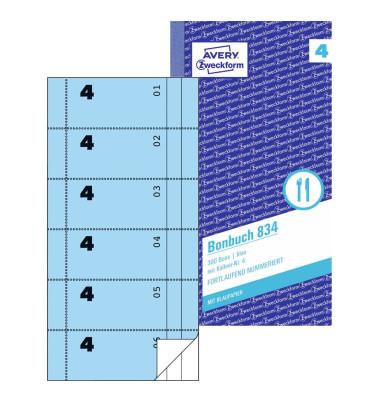Bonbuch 834 300 Bons blau