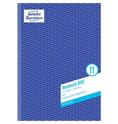 Bonbuch 842 1000 Bons gelb A4 1. und 2. Blatt bedruckt 2x50 Blatt
