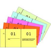 Nummernblock 1-1000 5 Farben sortiert 105x53 mm