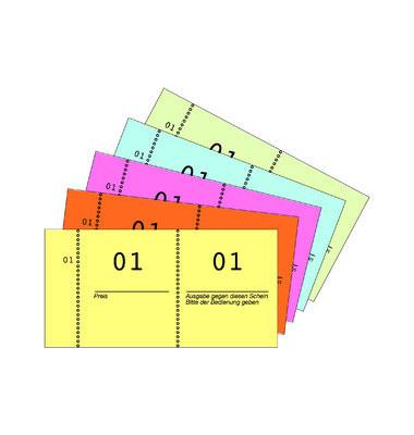 869 Nummernblock 1-1000 5 Farben sortiert 105x53 mm