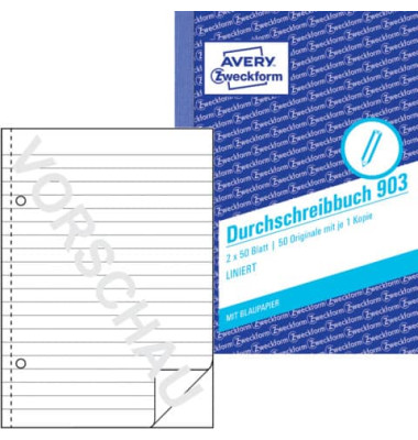 Durchschreibebuch 903 A6 2x50 Blatt