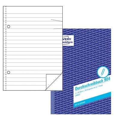 Durchschreibebuch 904 liniert A5 2x50 Blatt