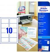 C32014-25 Visitenkarten weiß 85 x 54 mm 185g 250 Stück