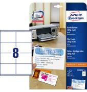 C32254-25 Karteikarten weiß matt 105 x 70 mm 185g 200 Stück