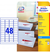 J4791-25 Adress Etiketten 45,7 x 21,2 mm weiß 1200 Stück