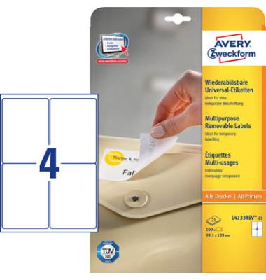 Etiketten L4733REV25 99,1 x 139 mm weiß 100 Stück