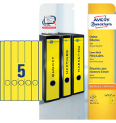 Rückenschilder L4751-20 38 x 297 mm gelb zum aufkleben 100 Stück