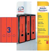 Ordneretiketten L4752-20 61 x 297 mm rot zum aufkleben 60 Stück